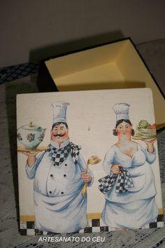 Caixa Cozinheiros - R$ 15,00 Cod. PCX 019