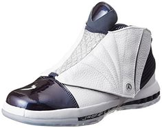 low priced d7f4f 5295f Nike Jordan Men s Air Jordan 16 Retro White White Midnight     Nike Men s