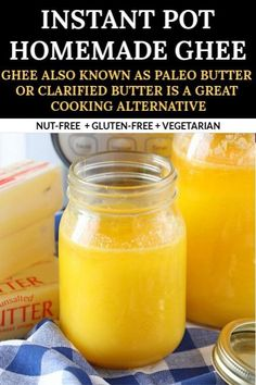 Homemade Instant Pot Ghee or clarified butter also referred to as 'Paleo Butter' is a great cooking alternative. Add a small amount of ghee to any dish and it attributes an amazing flavor and a creamy texture to any meal. Easy Asian Recipes, Indian Food Recipes, Real Food Recipes, Best Gluten Free Recipes, Vegetarian Recipes, Making Ghee, Eat Happy, Tea Time Snacks, Clarified Butter