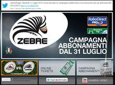 Le Zebre in Rete: lanciato il sito web ufficiale #rugby_pazzi #fb