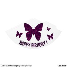 Lila Schmetterlinge Partyhütchen Happy, Purple Butterfly, Welcome Home, Beautiful Butterflies, Visit Cards, Postcards, Art Pieces, Nice Asses, Happy Happy Happy