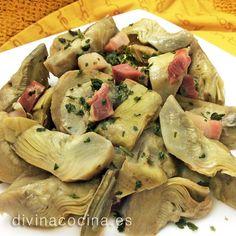 Alcachofas guisadas con jamón » Divina Cocina