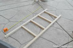 knock off pottery barn blanket ladder tutorial