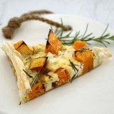 Roasted Pumpkin, Caramelised Onion & Feta Tart