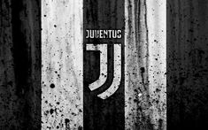 Download wallpapers FC Juventus, 4k, logo, Serie A, Juve, stone texture, Juventus, grunge, soccer, football club, Juventus FC