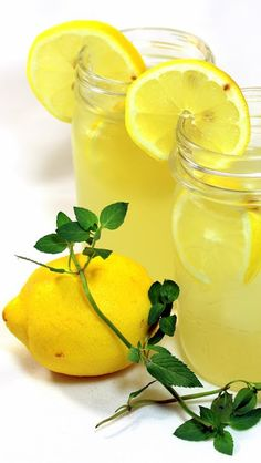 Vanilla Mint Sweet Lemonade (BEST EVER) - Grilling Time Drinks... Silky Smooth SWEET authentic yet plenty of Pucker fresh made Lemonade (NO Bottled lemons).  Easy and DELICIOUS way to celebrate summer