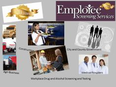 http://www.yourdrugtesting.com - Employee Screening Services in Kansas City MO provides industry drug and alcohol testing for Medical Professions, Contruction, Agri-Business, Local and Municipal Governments, etc.