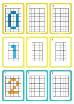 Moving in a Grid GS CP Replicating Numbers - Exercises based on . Fun Worksheets For Kids, Math Activities For Kids, Preschool Worksheets, Fun Math, Math Games, Activity Based Learning, Maternelle Grande Section, Visual Perception Activities, Free Printable Puzzles