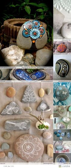 Crafts stones ~ Cause a girl can't have to many rocks =) by holly
