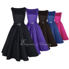 2013 New Colorful Women 50s Audrey Sleeveless Rockabilly Evening Hepburn Dresses for Nicci's wedding. Would want it to be calf length and have a matching jacket.