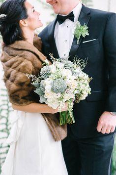 Winter Wedding Fur, Winter Wedding Bridesmaids, Winter Bride, Winter Wonderland Wedding, Brides And Bridesmaids, Vintage Fur, Vintage Bridal, Rustic Wedding Inspiration, Wedding Ideas