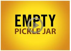 Stress Is a Choice: The Empty Pickle Jar #inspirationalvideo Every day is a gift and the quality of your life is your gift to yourself. Choose less #stress and lead a happier, simplified life. http://play.simpletruths.com/movie/the-empty-pickle-jar/