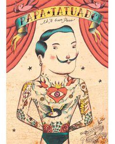 Papá tatuado, de Daniel Nesquens. Uno de los libros más deliciosamente tristes y esperanzadores que he leido nunca.