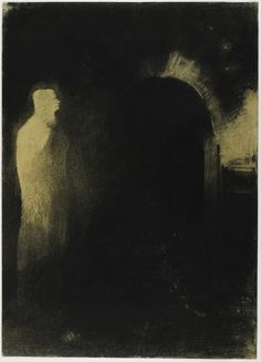 Vision, 1895/1897, black pastel with charcoal and black chalk on ivory wove paper