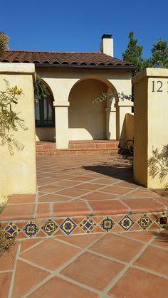 6x12 super saltillo tile with 2x2 talavera decorative for Decorative spanish tile