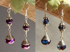 czech crystal earrings tutorial