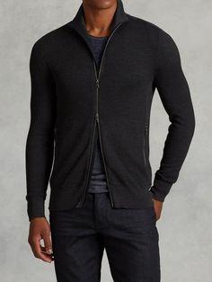 Silk Cotton Zip Sweater