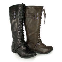 c3b530eefc Light Brown/Tan Knee High Military Lace Up Combat Boot - Ahoy