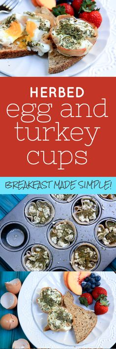 Herbed Egg and Turkey Cups