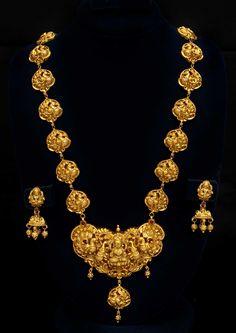 Nagas Goddess Lakshmi with peacock necklace