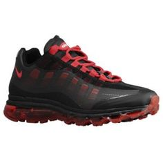 Nike Air Max + 95 360 - Men's - Running - Shoes - Black/Anthracite/Cool Grey/Sport Red