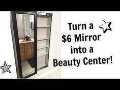 Full Length Mirror Sliding Beauty Storage Cabinet | Ana White