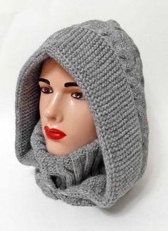 Crochet Hood, Crochet Beanie Pattern, Knit Crochet, Hand Knitting, Knitting Patterns, Crochet Patterns, Hat And Scarf Sets, Diy Scarf, Yarn Projects