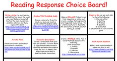 reading response choice board all-in-one.pdf