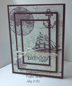 The Open Sea - Triple Time Stamping by MrsOcean - Cards and Paper Crafts at Splitcoaststampers