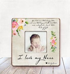 Grandma Gift Nana Grandmother Birthday CHRISTMAS New Frame Personalized