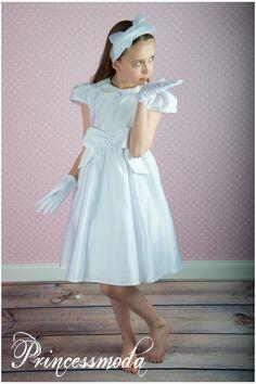 TAMIA - In Weiß! Wunderschönes Festkleid! - Princessmoda - Alles für Taufe Kommunion und festliche Anlässe