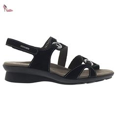 Mephisto Womens Parfolia Black Nubuck Sandals 39 EU Sik97c