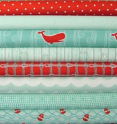 Maritime Fat Quarter Bundle by Marin Sutton for Riley Blake