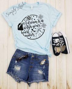A dream is a wish your heart makes CIRCLE shirt cute cinderella shirt disney shirt disney land shirt disney world shirt. - A dream is a wish your heart makes CIRCLE shirt cute Cute Disney Outfits, Disney World Outfits, Disneyland Outfits, Disney World Shirts, Disney Tees, Cute Casual Outfits, Girl Outfits, Disney Clothes, Disney Fashion
