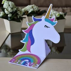 Unicorn Easel Card designed by @Bird's SVGs