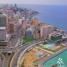 Amazing Aerial view of Beirut منظر رائع من الجو لبيروت By Marwan Khoury #WeAreLebanon #Lebanon
