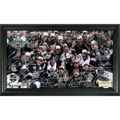 Highland Mint NHL LA Kings 2014 Stanley Cup Champions Tradition Signature Rink Frame