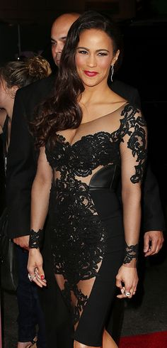 Stunning in sexy sheer,actress Paula Patton and wife of Robin Thicke. Her hair and make-up is beau. Beautiful Celebrities, Gorgeous Women, Beautiful People, Meagan Good, Paula Patton, Lil Black Dress, Elizabeth Hurley, Royal Fashion, Woman Crush
