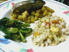 Tuna with Fried Rice and Vegetable #Homemade