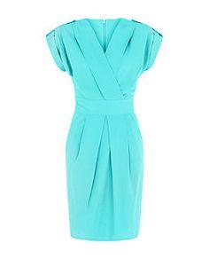 Closet - Robe tulipe turquoise effet cache-cœur   New Look