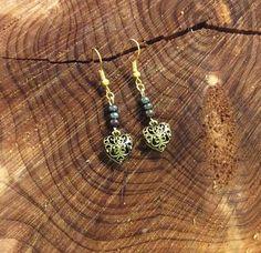 Handcrafted Beaded Heart Earrings