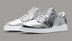 "Air Jordan 1 Low Pinnacle ""Metallic Silver"" - EU Kicks Sneaker Magazine"