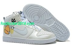 best sneakers 64ef1 3509e Cartoon White Angry Birds Nike Dunk Shoes   Cool High Tops Nikes Dunks  Adidas Converse Cartoon Shoes, Cheap For Sale