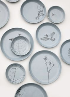 One Of A Kind Plates, drawn by hand. - Maartje van den Noort