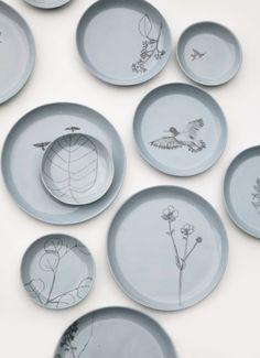 One Of A Kind Plates, drawn by hand. - Maartje van den Noort