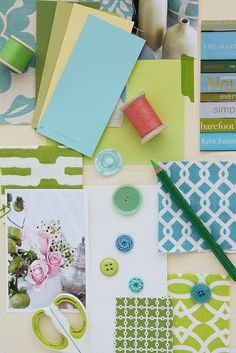 green and aqua: inspiration from a creative mint