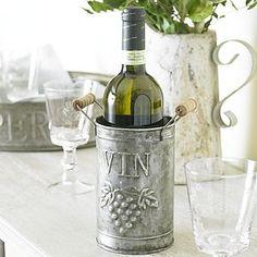 Zinc Wine Bottle Holder - dining room