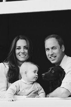 William, Kate, George and Lupo :)