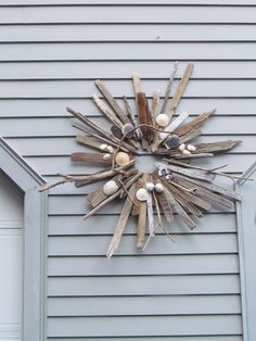Shell and Driftwood Wreath North Beach Natural by apresto on Etsy, $75.00