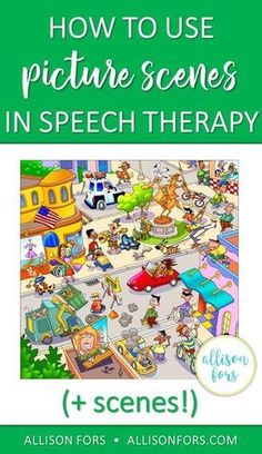 Picture scenes are a versatile and engaging tool to use in speech therapy to work on: grammar, wh questions, following directions, inferences, conversations, and much more!